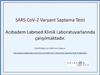 Güncel SARS CoV-2 Varyantları Saptama Testi ile Bilgi Notu